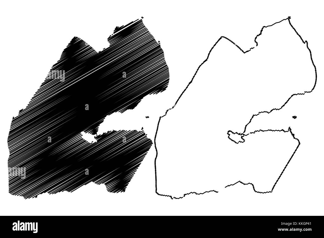 Djibouti Map Vector Illustration Scribble Sketch Republic Of - Republic of djibouti map