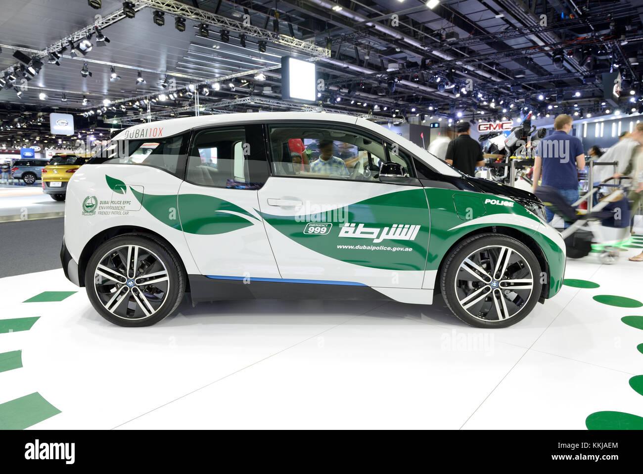 Dubai Uae November 18 The Bmw I3 Of Dubai Police Electric Car Is