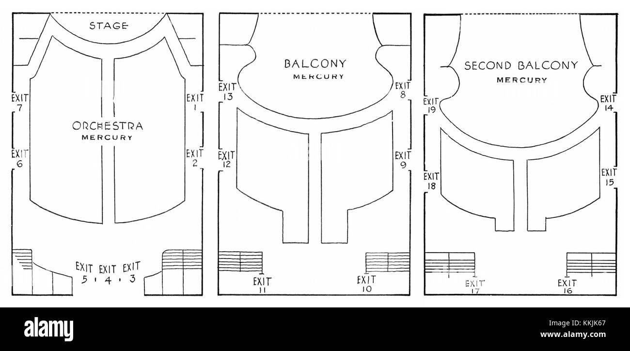 Mercury-Theatre-Seating-Diagram-1938 Stock Photo: 166981983 - Alamy
