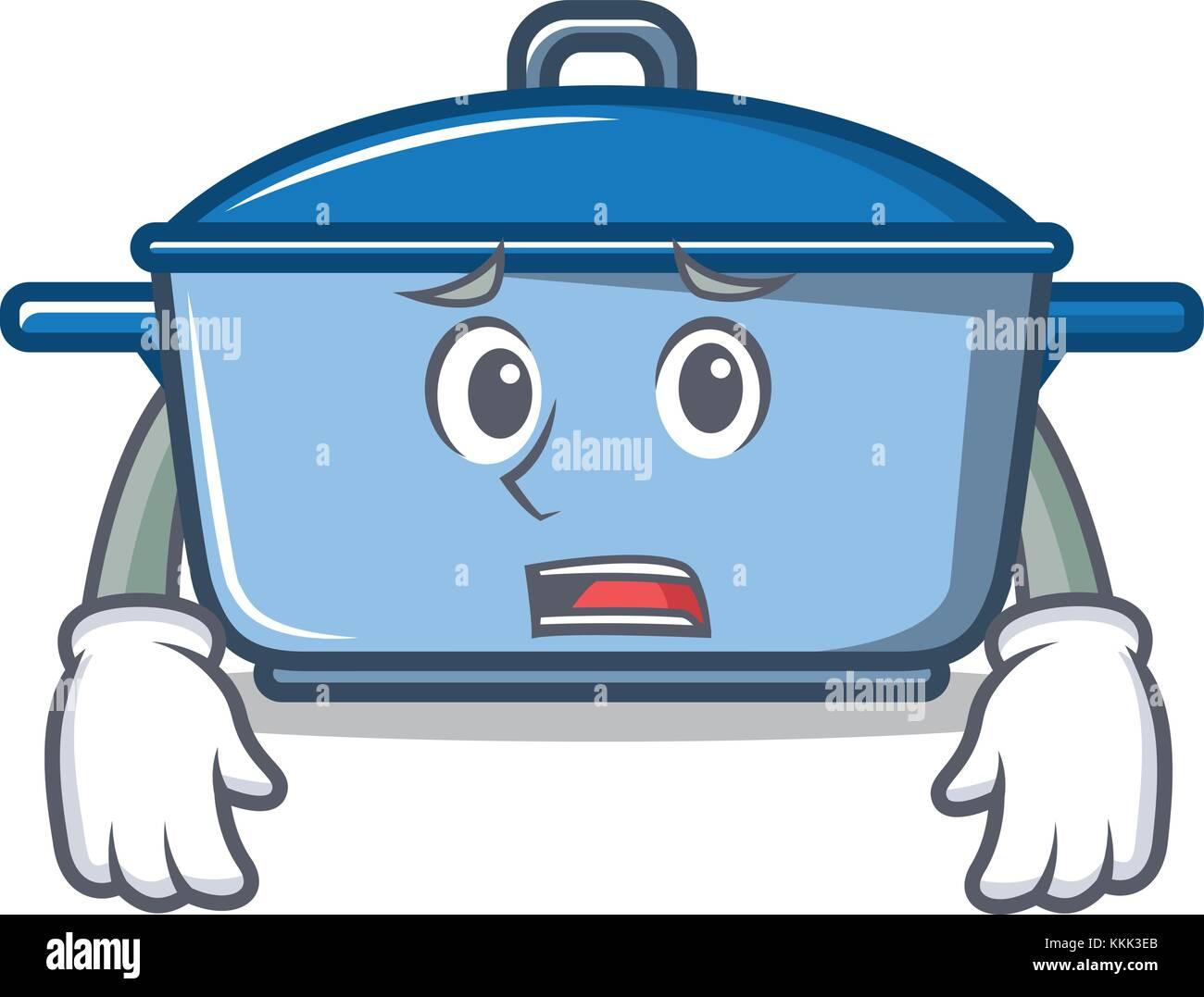 Afraid kitchen character cartoon style Stock Vector Art ...