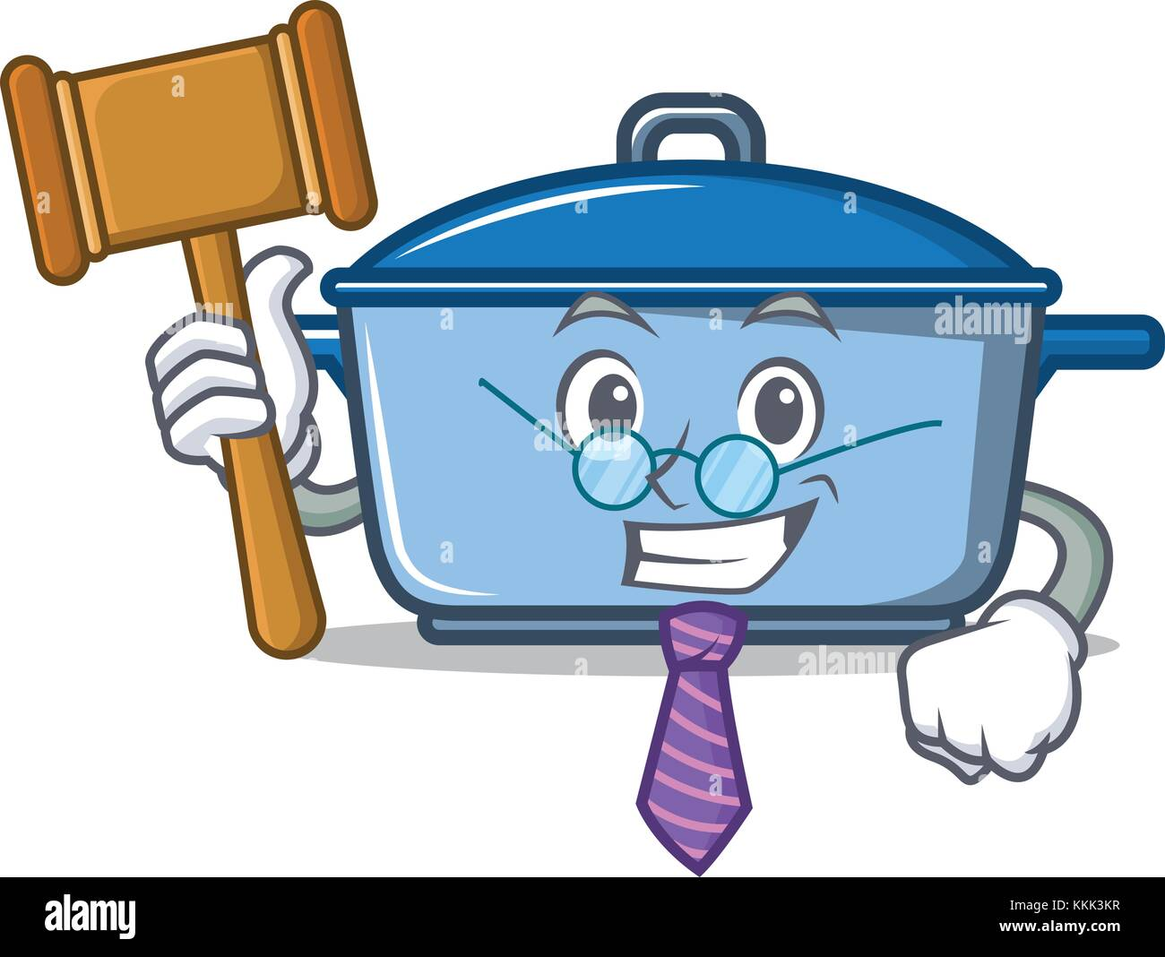 Judge kitchen character cartoon style Stock Vector Art ...