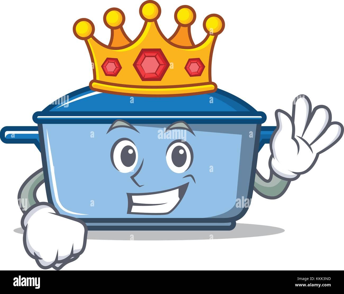 King kitchen character cartoon style Stock Vector Art & Illustration ...