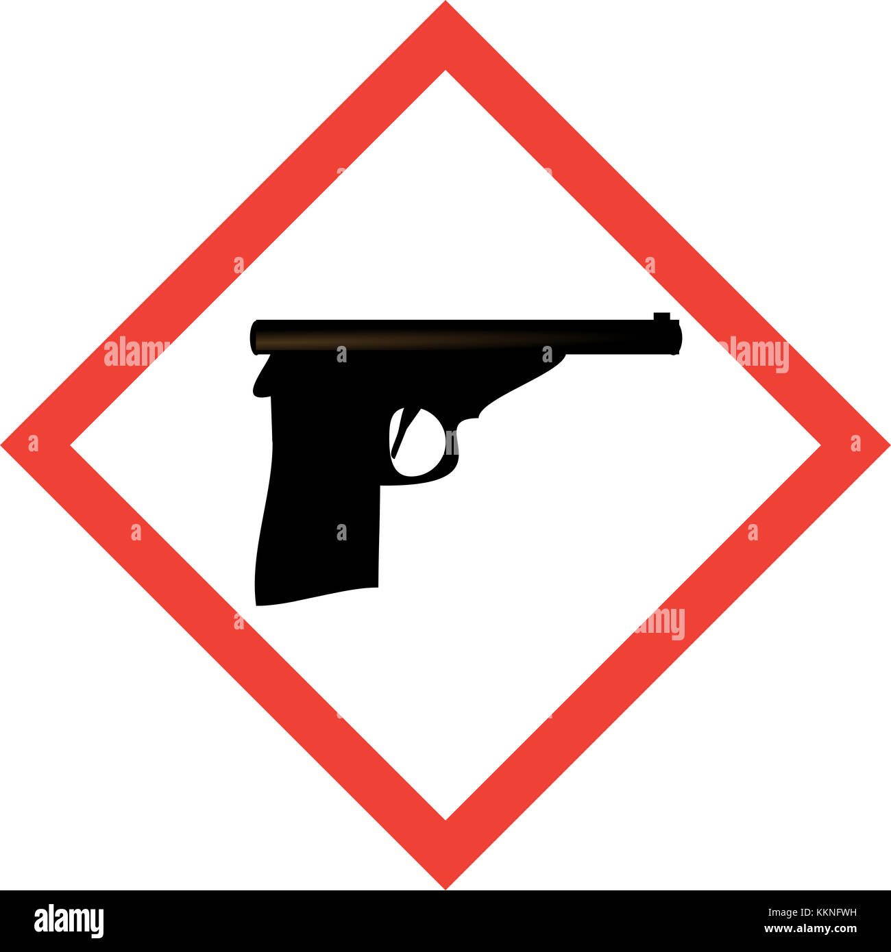 Hazard sign with gun symbol stock photo royalty free image hazard sign with gun symbol biocorpaavc