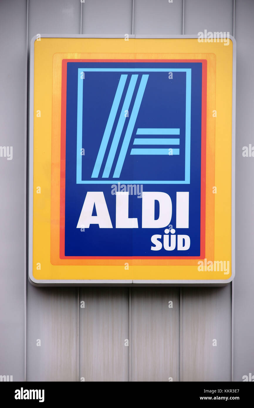 Aldi food market stock photos aldi food market stock images alamy the bright company logo of the food discount shop aldi sd at the tin facade of biocorpaavc
