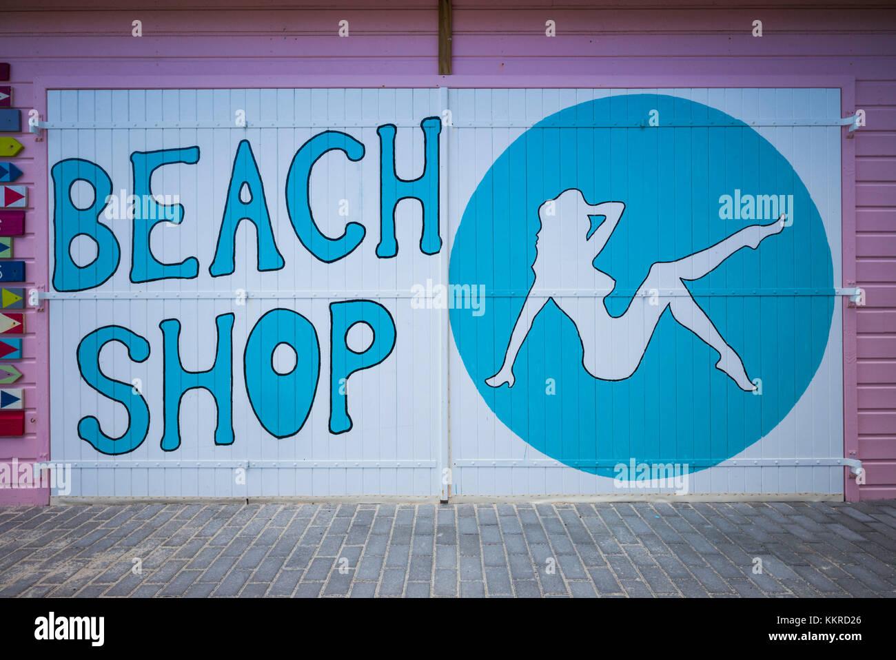 French West Indies St Martin Orient Beach Shop Sign