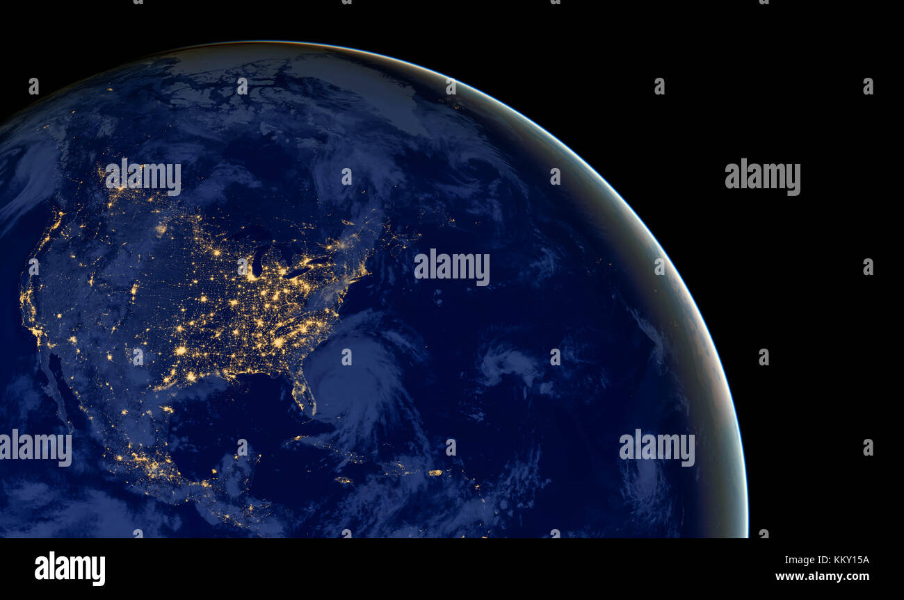 Usa Map United America From Stock Photos Usa Map United America - Us map at night