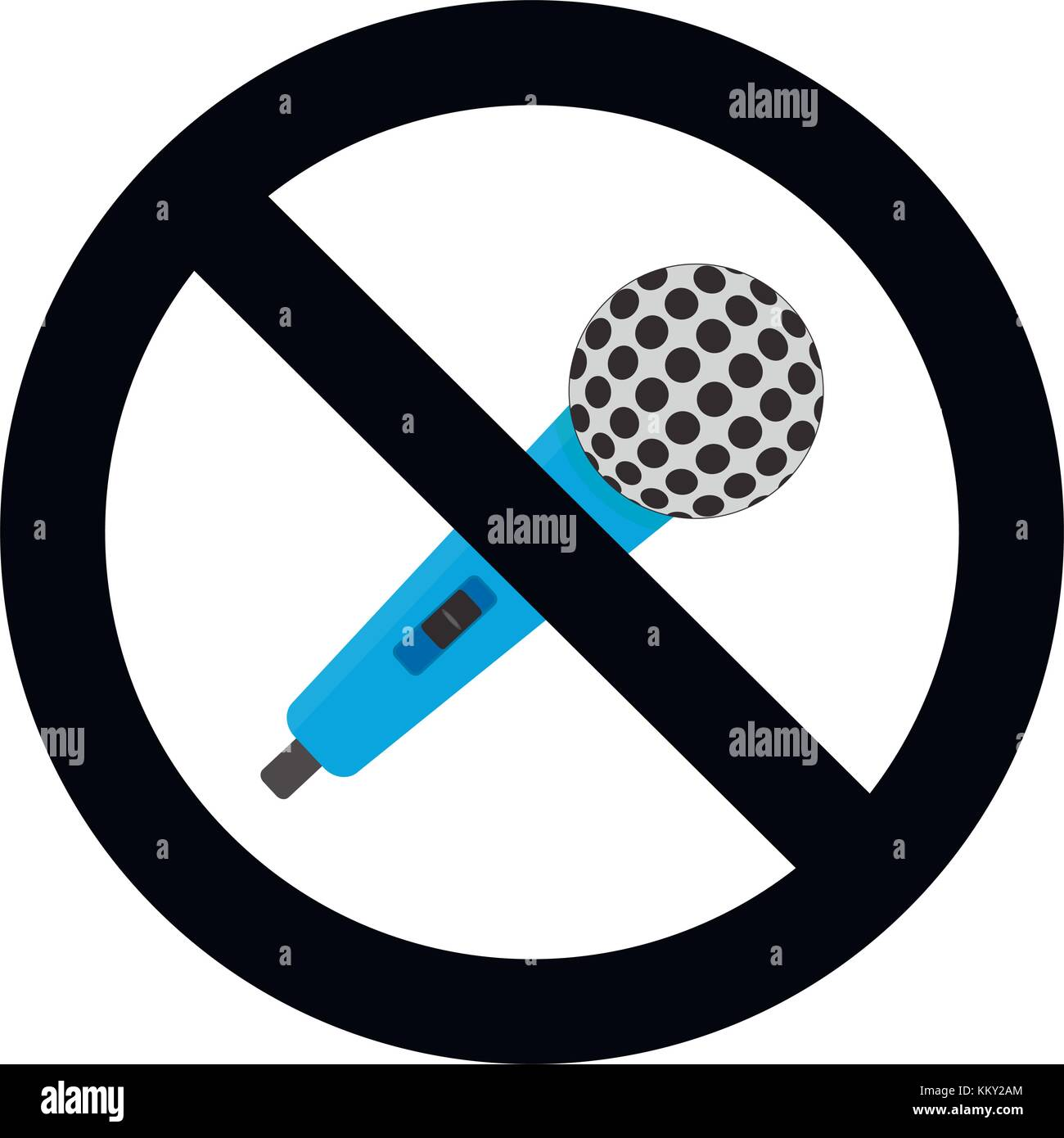 No Microphone Symbol Sign Ban Mic Stop Voice In Microphone Not