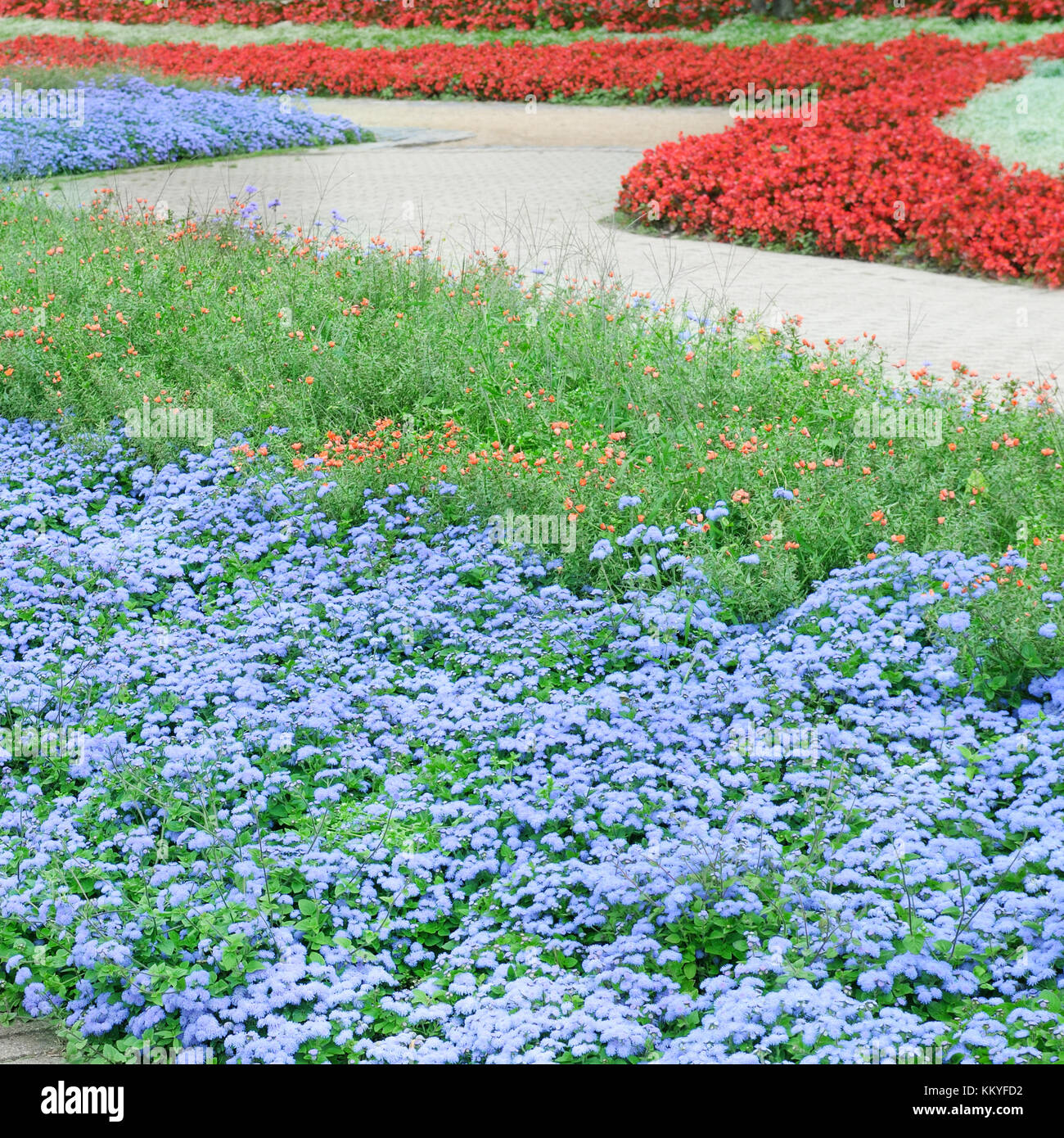 Beautiful Flower Beds And Walking Paths Stock Photo 167176606 Alamy
