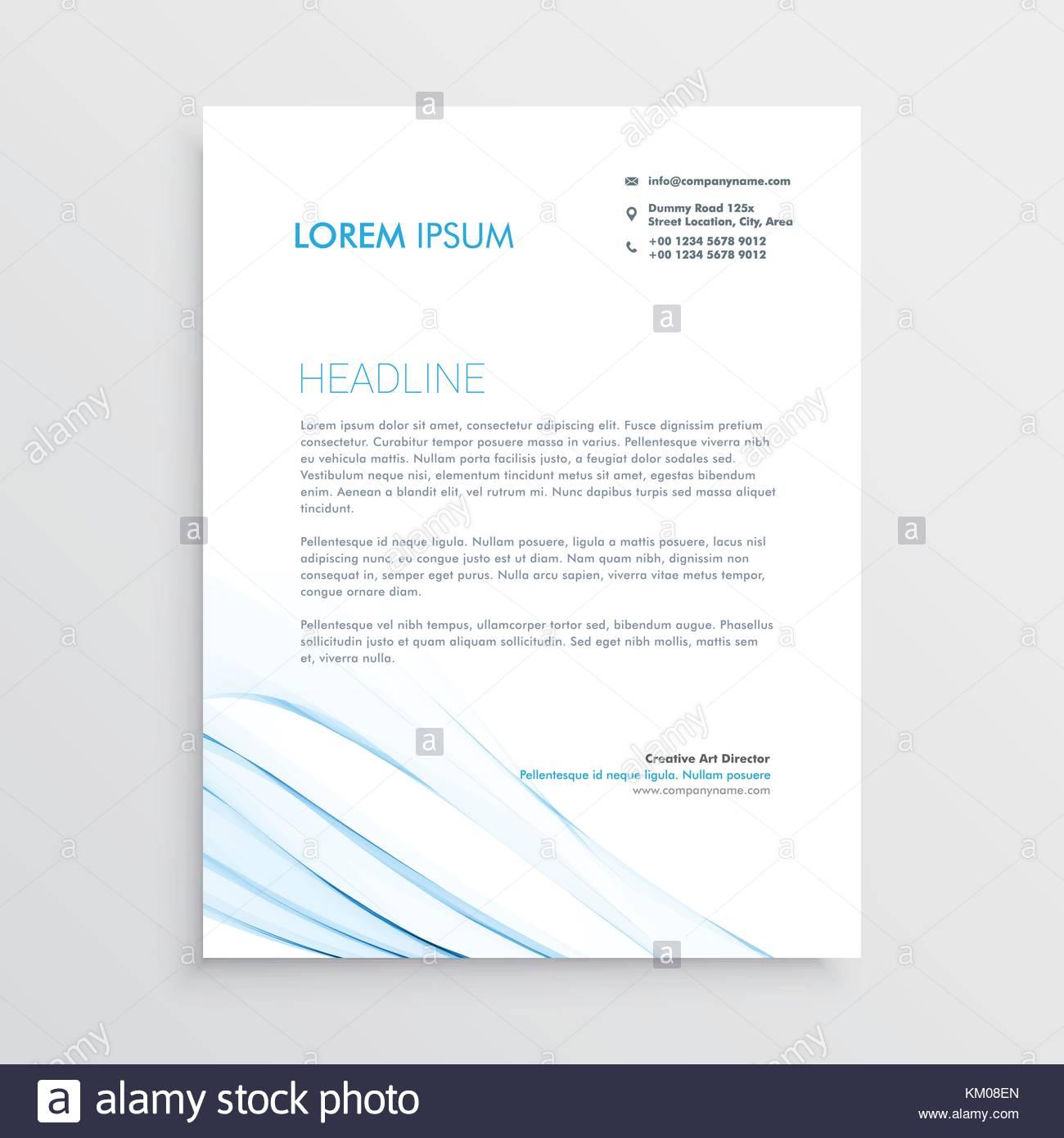 simple creative letterhead template design stock vector art