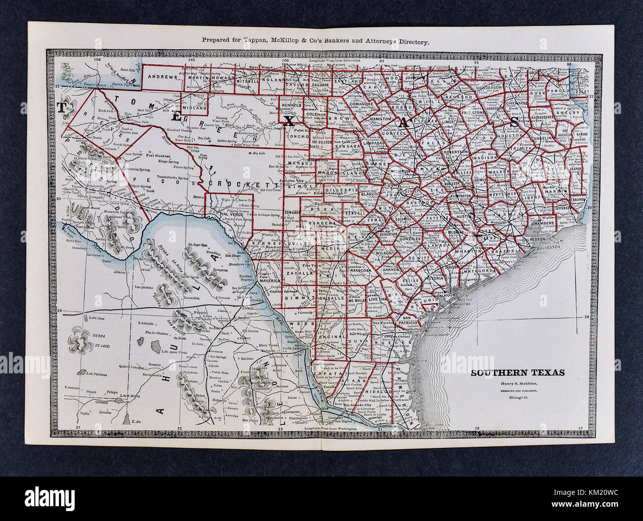 George Cram Antique Map from 1866 Atlas for Attorneys and Bankers