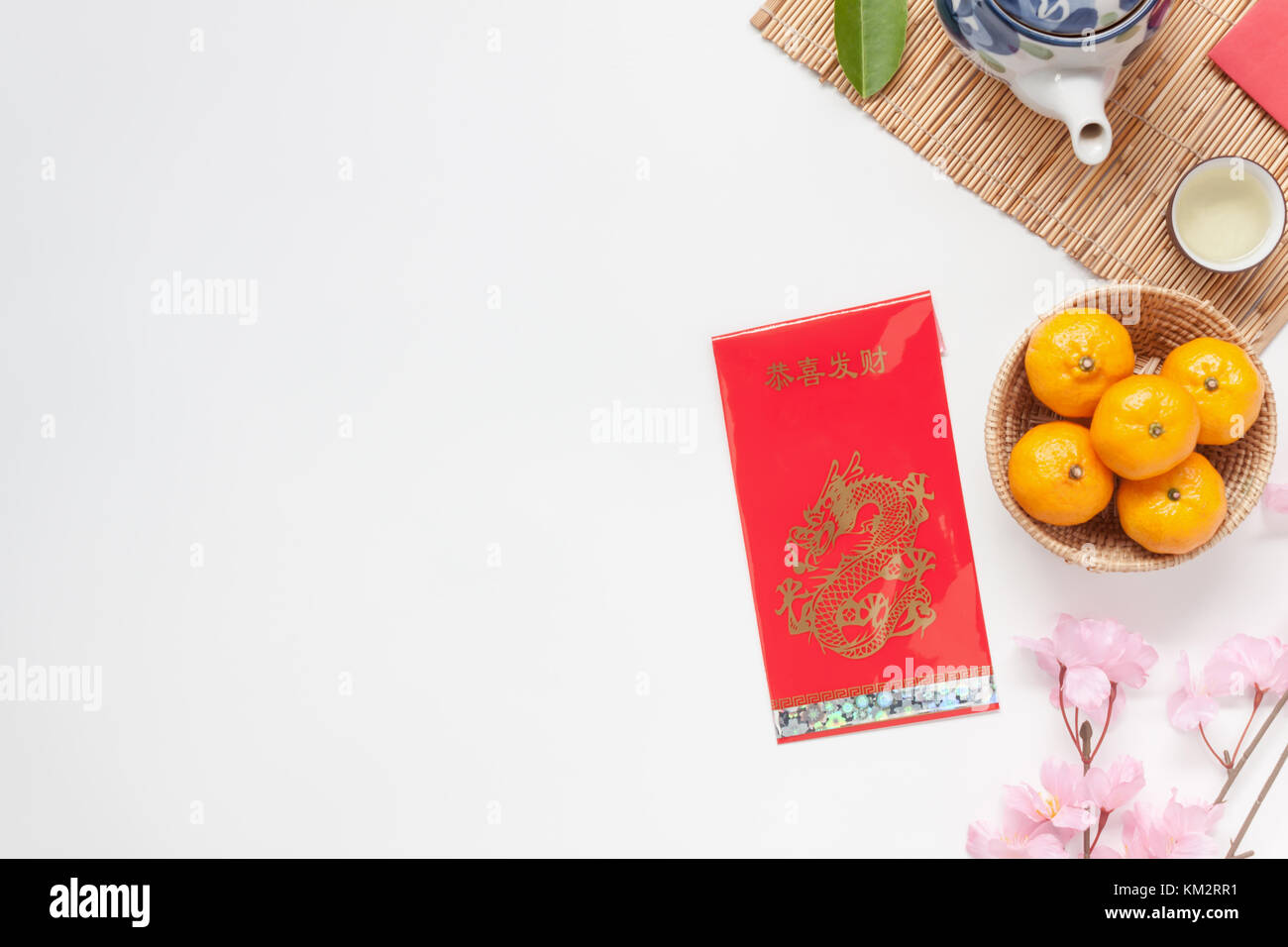 flat lay image of accessories chinese new year and lunar new year festival concept backgroundmix variety object for the seasonbeautiful difference i