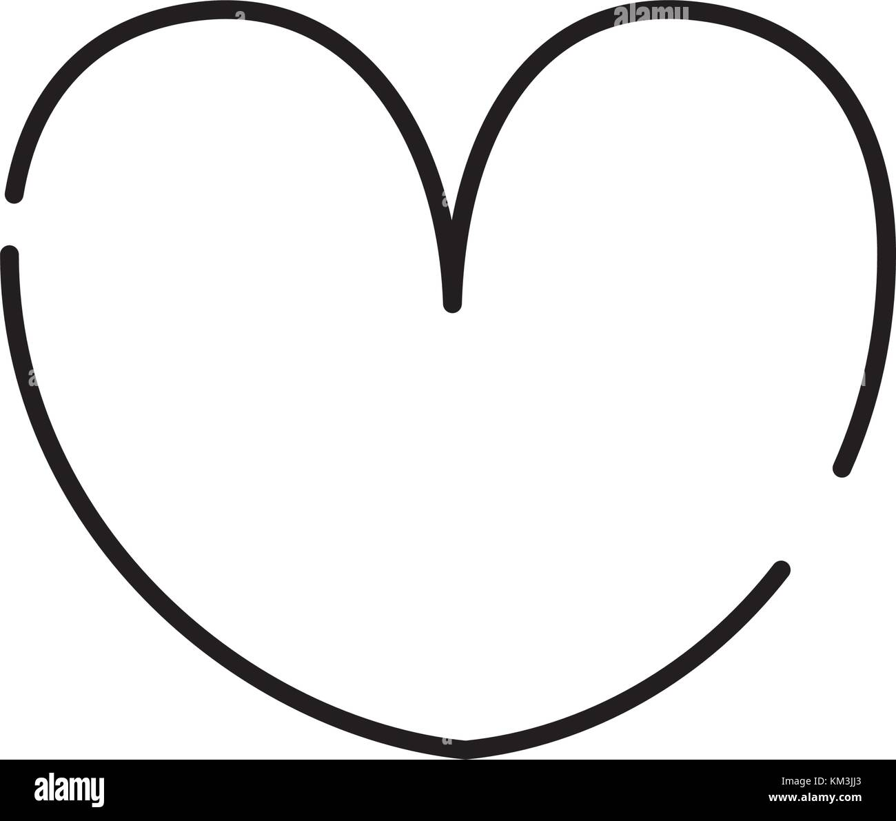 Line Heart Symbol Of Passion And Love Stock Vector Art