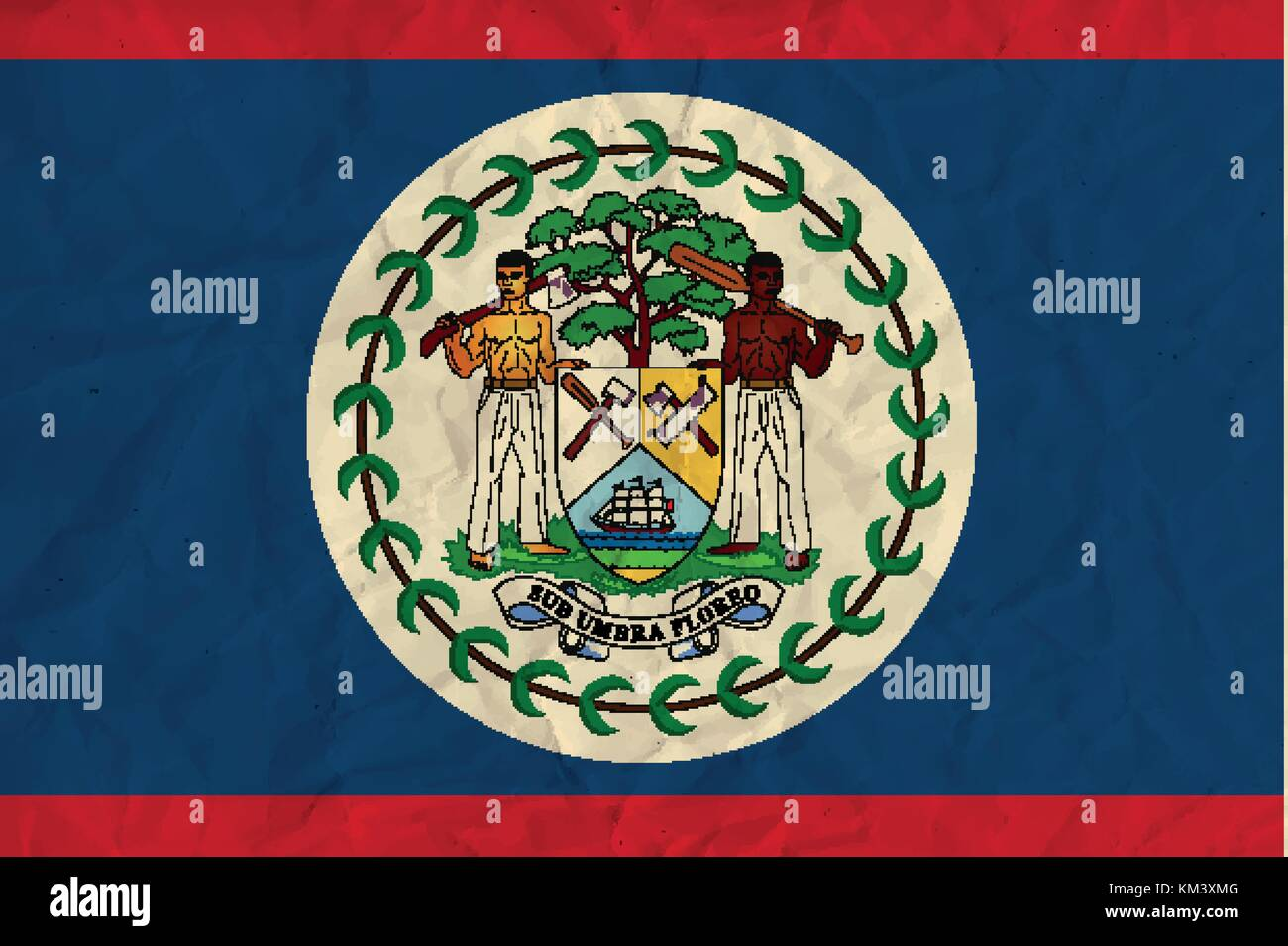 Official flag of belize stock photos official flag of belize belize paper flag stock image biocorpaavc Image collections