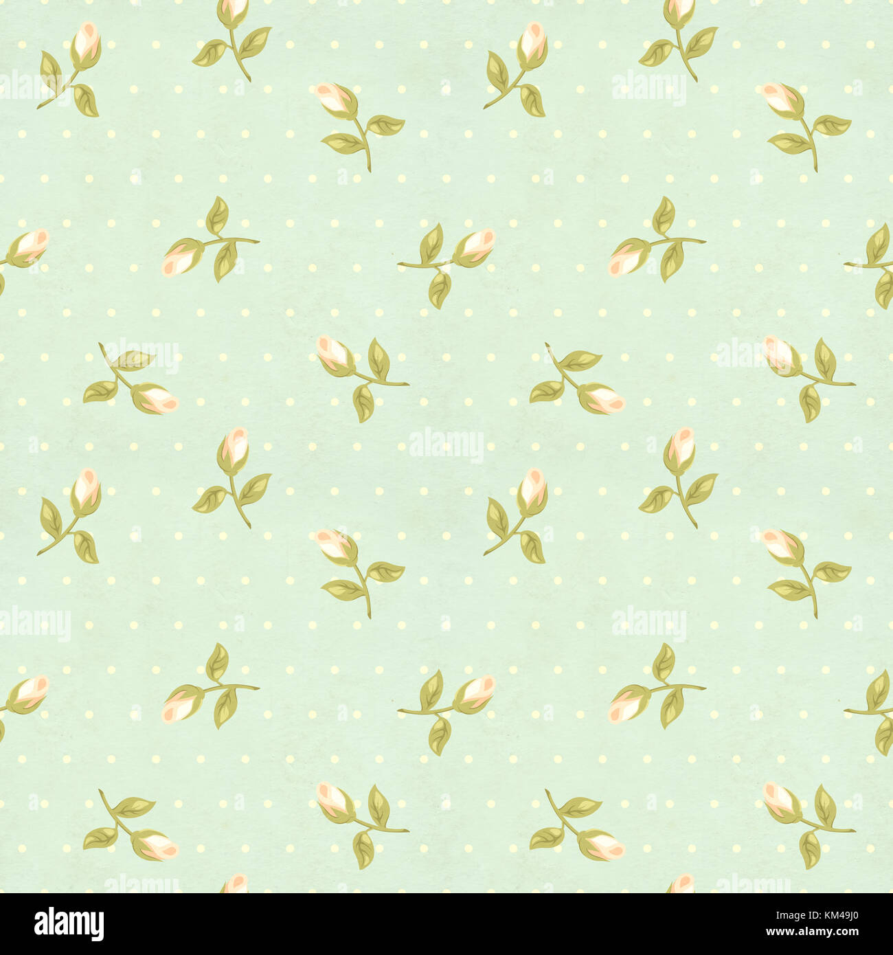Seamless retro pattern tiling with rose flower in shabby for Lampe style shabby chic