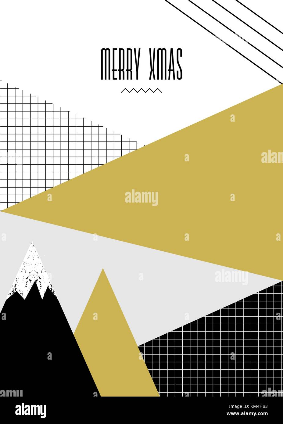 modern christmas greeting card template with text merry xmas and