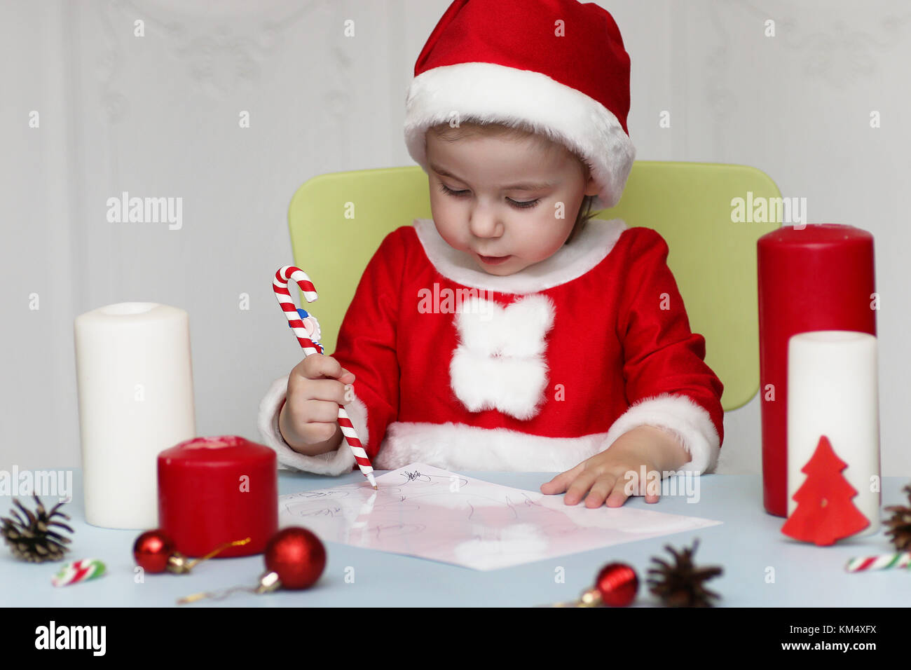 little kid are writing letter to santa stock photo 167295070 alamy