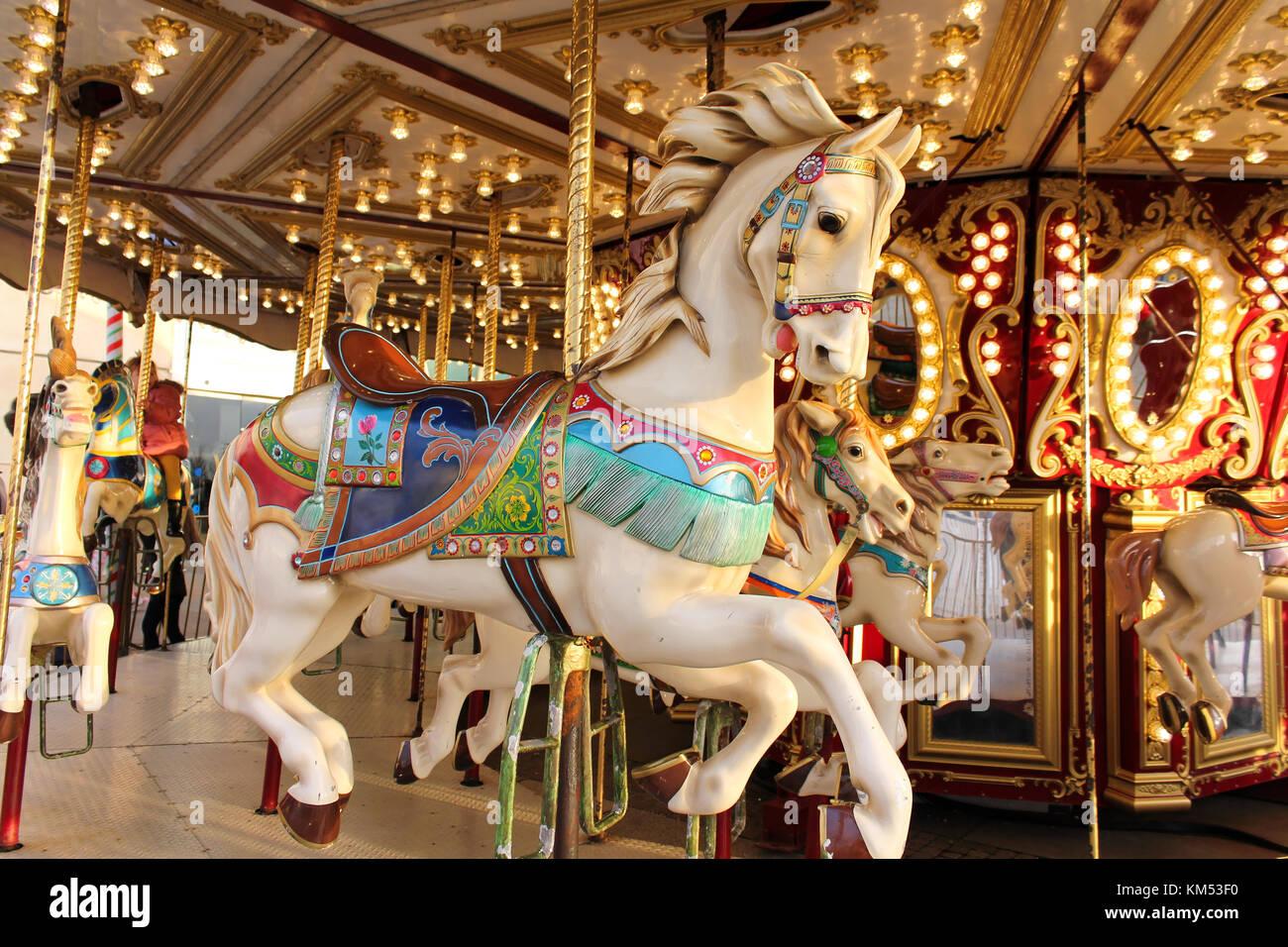 Vintage Carousel Kids Stock Photos & Vintage Carousel Kids ...