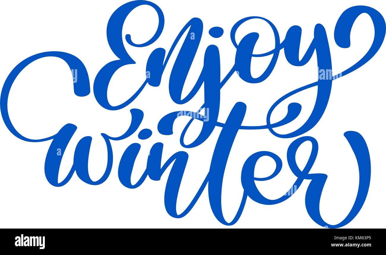 Calligraphy enjoy winter merry christmas card with template for template for greetings congratulations housewarming posters invitations photo overlays vector illustration kristyandbryce Images