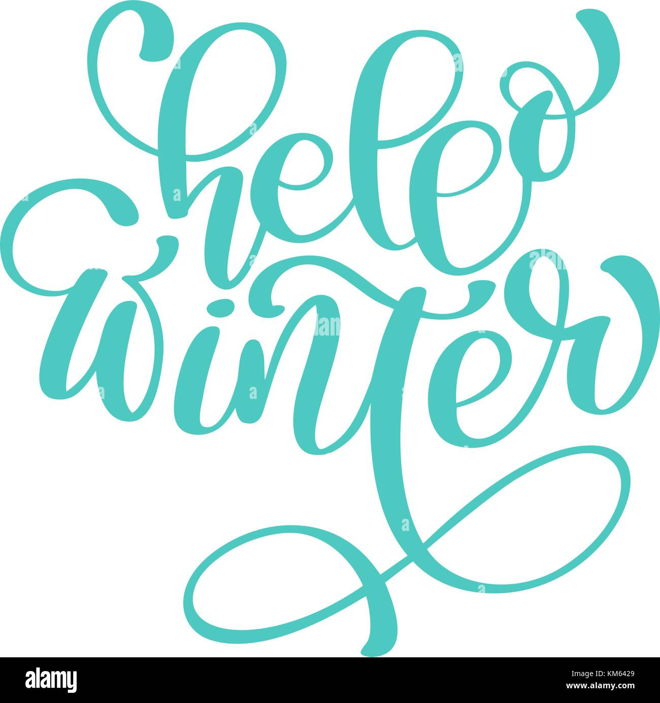 Calligraphy hello winter merry christmas card with template for template for greetings congratulations housewarming posters invitations photo overlays vector illustration kristyandbryce Images