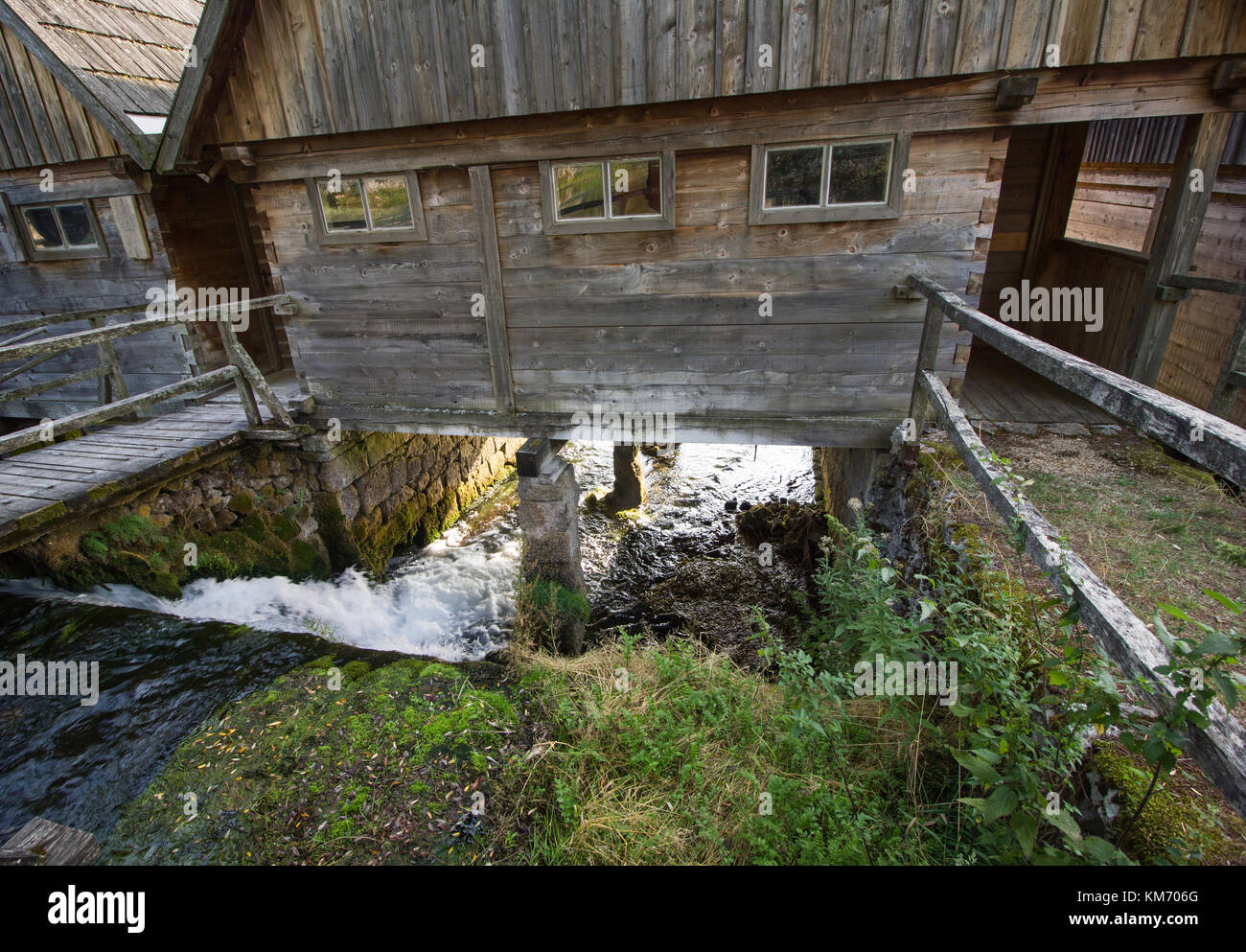 the old water mills at majerovo vrilo which is one of the spings