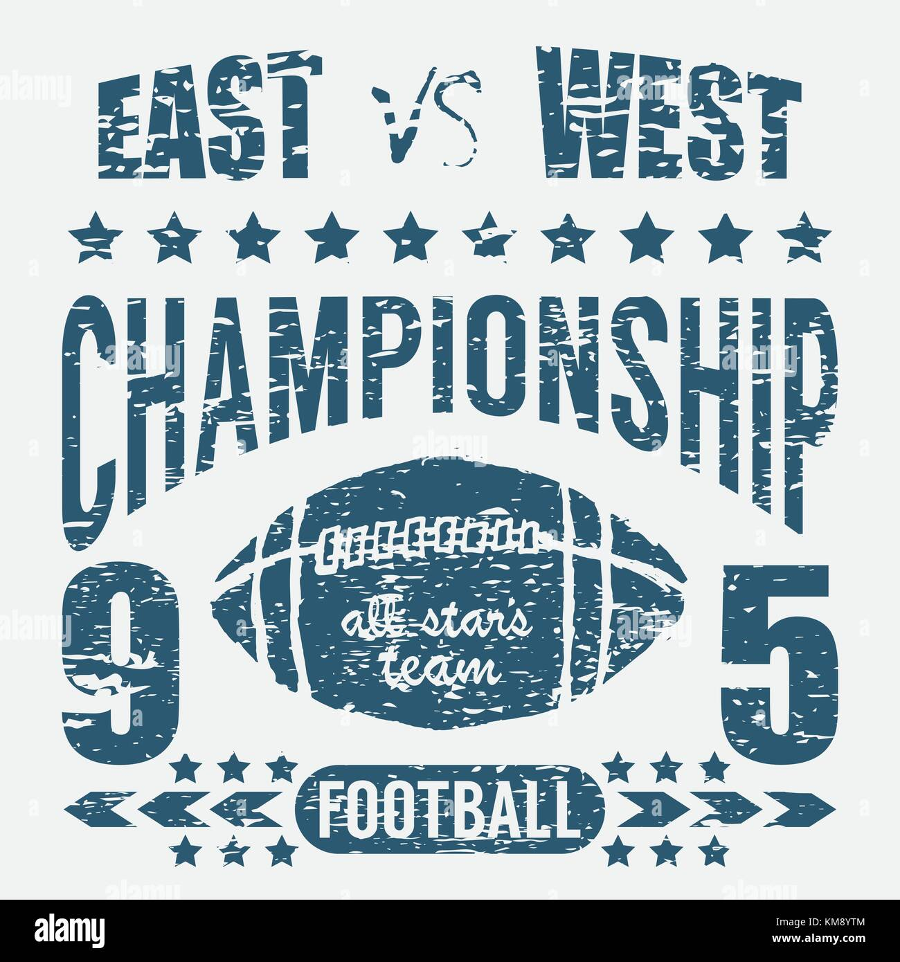Football Sport Typography T Shirt Printing Design Graphics Vector