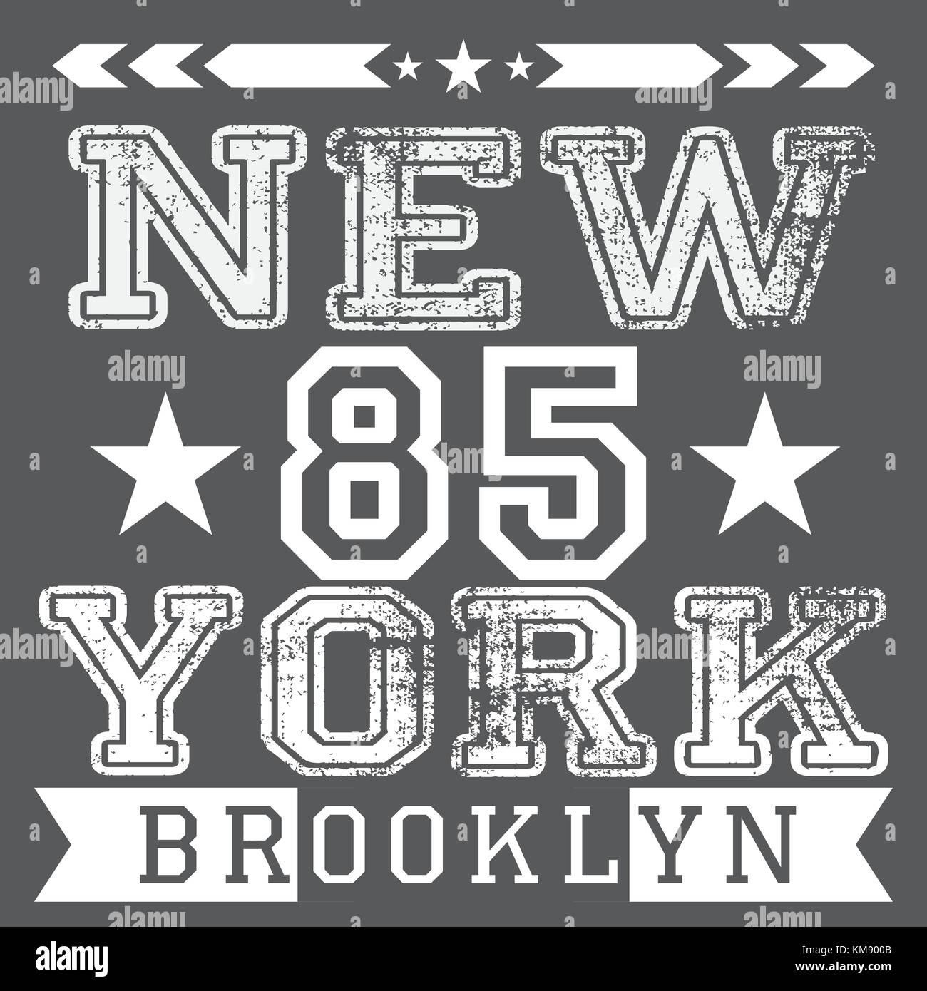New York City retro vintage typography poster d95f5a40ebf
