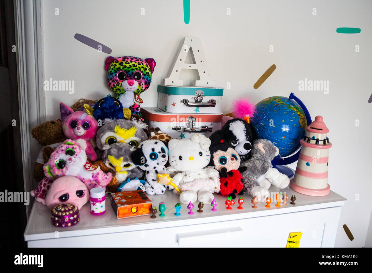 Toys On A Shelf In A Child S Bedroom Ty Beanie Boo Lighthouse