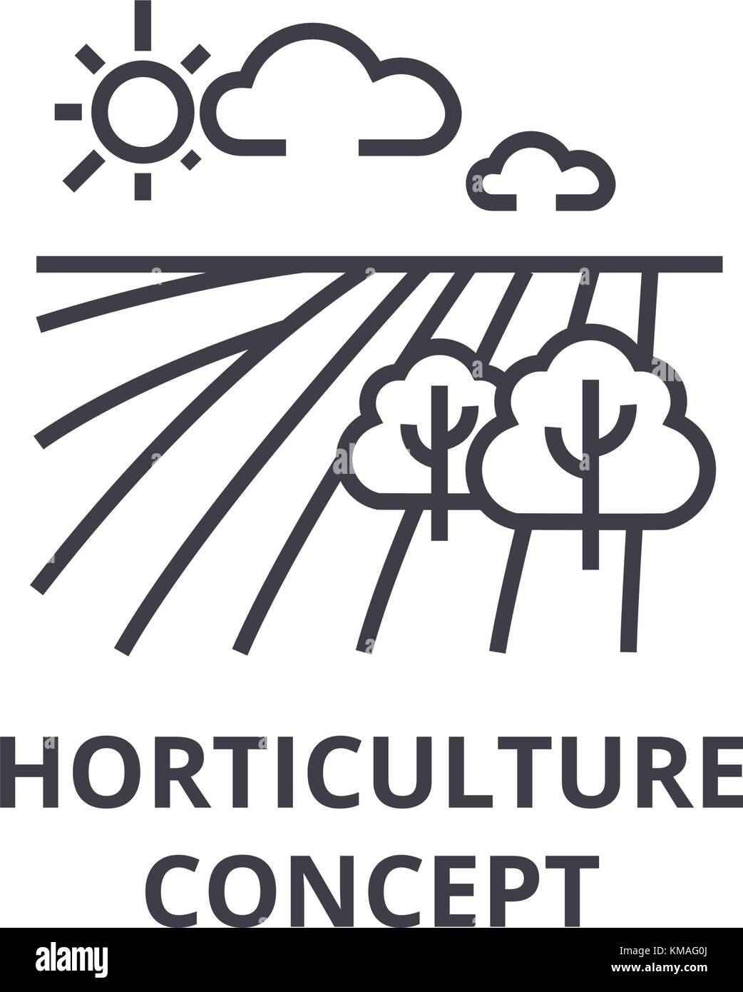 Horticulture Concept Line Icon Outline Sign Linear Symbol Vector