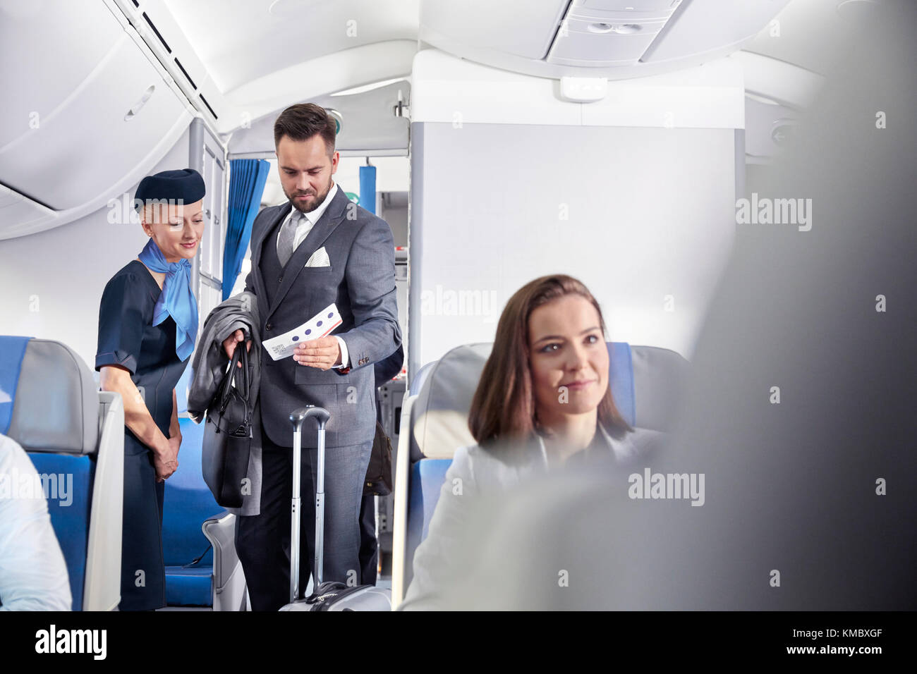 Air hostess helps out 4