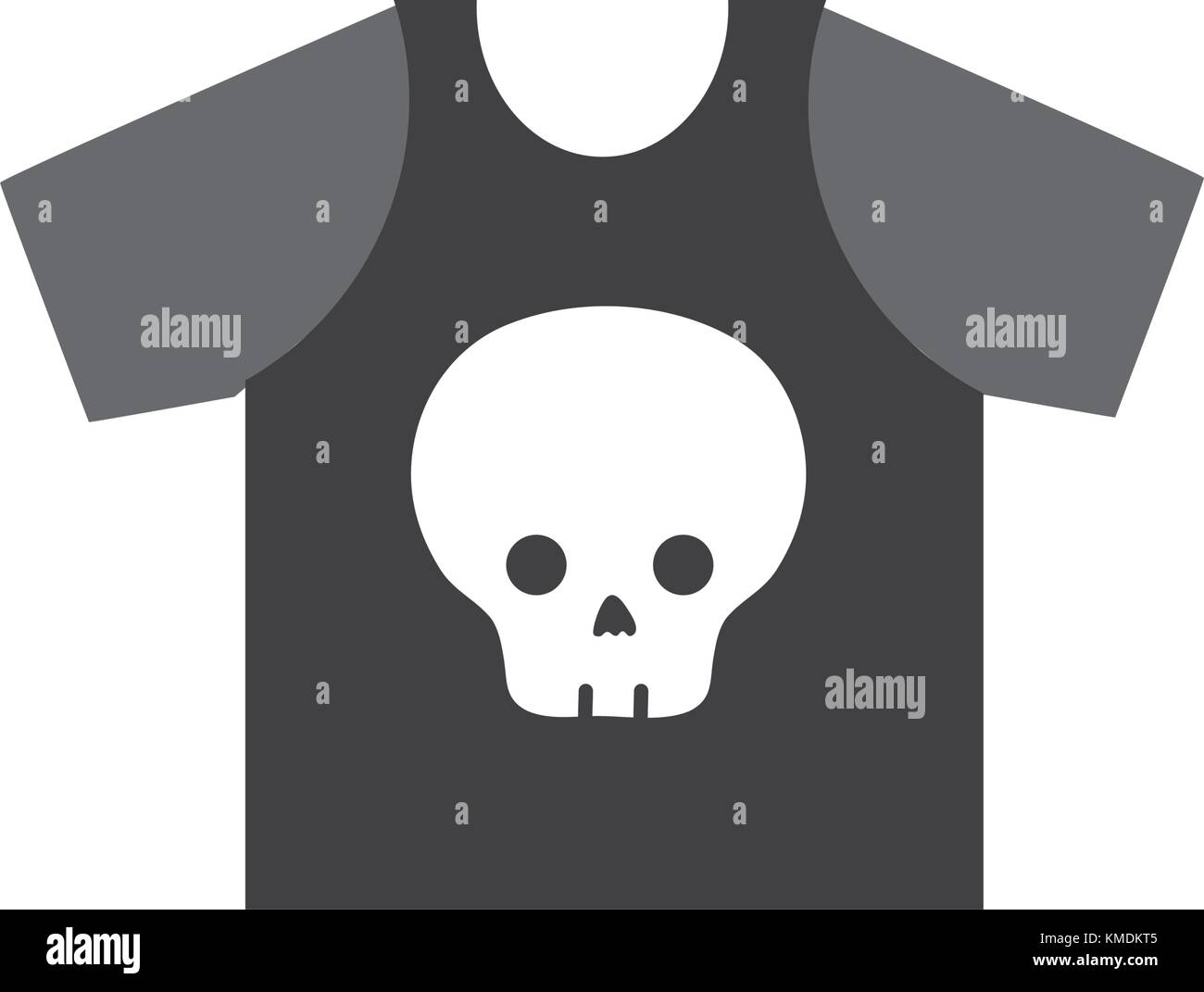 Colorful Rock T Shirt With Skull Design Casul Clothes Stock Vector