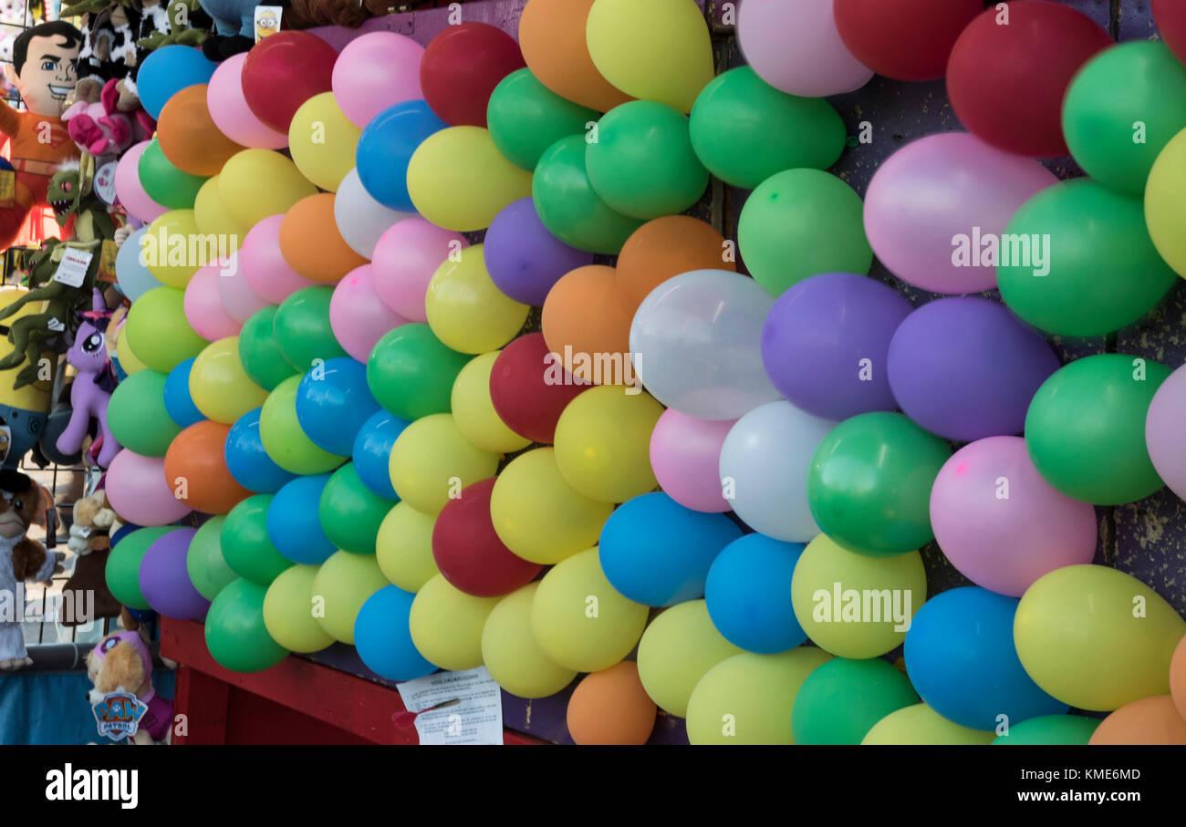 Pop The Balloon Dart Game At A Carnival Or Fair Stock Photo