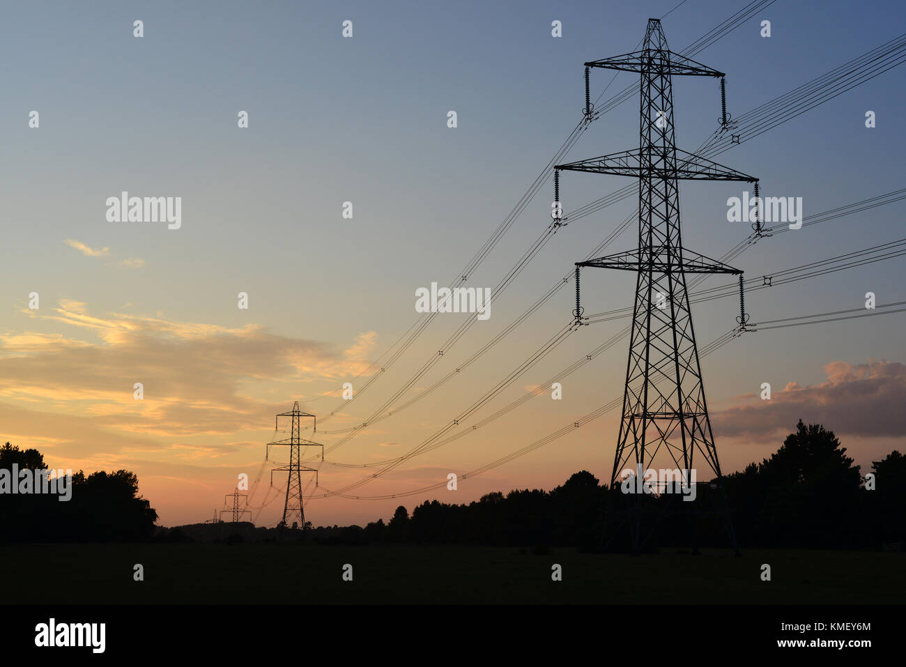 National grid uk stock photos national grid uk stock images alamy national grid pylons on the edge of the new forest hampshire england uk biocorpaavc Image collections