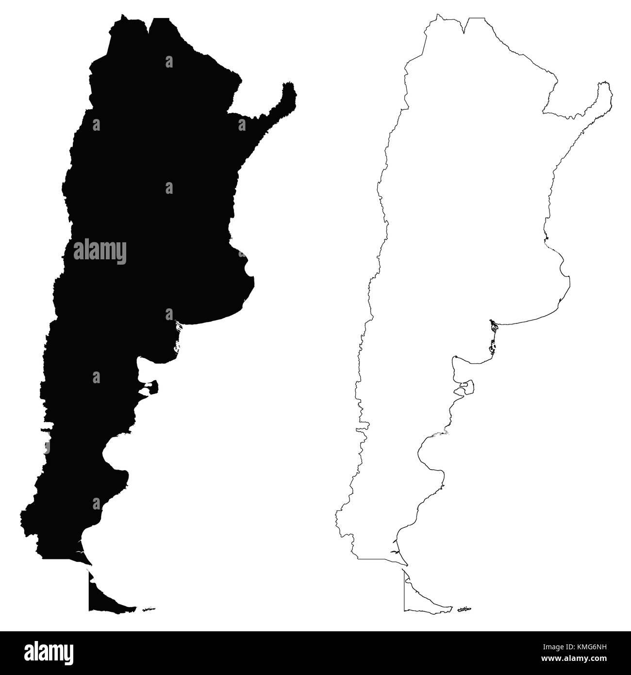 Argentina Map Outline Vector Stock Photos Argentina Map Outline - Argentina map outline