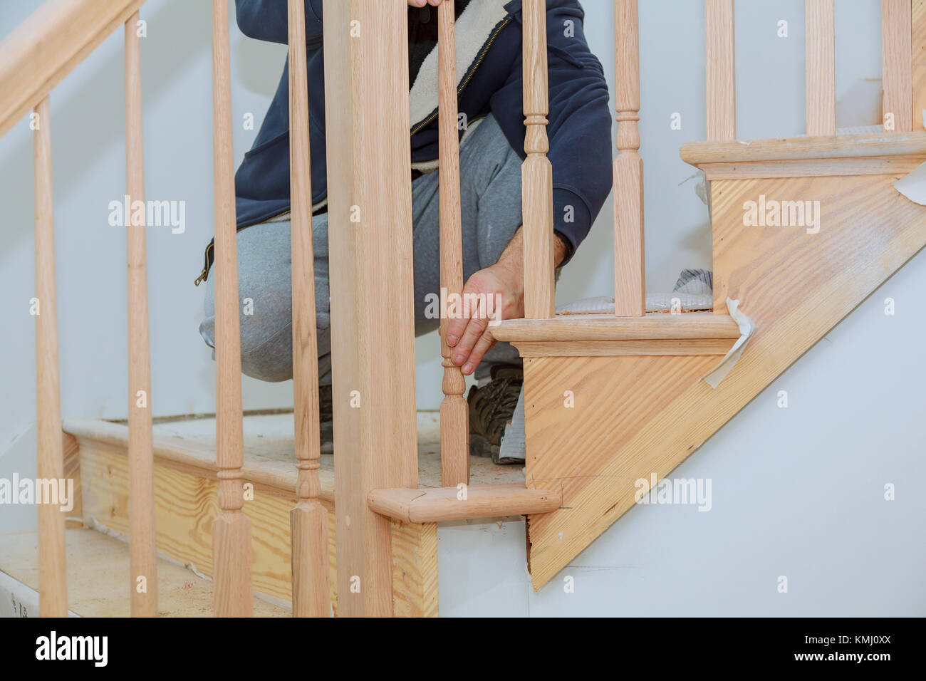 How To Install Stair Railing Kit Installation For Wooden Railing For Stairs