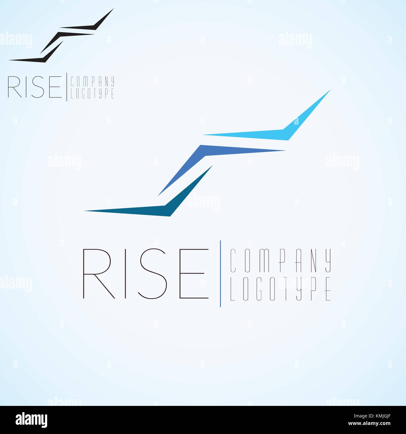 abstract stairs logo concept template for start up flight company