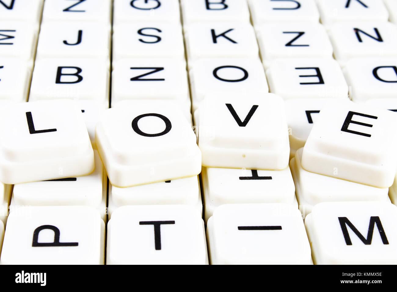 Lovele Text Word Crossword Alphabet Letter Blocks Game Texture Background White Alphabetical Letters On Black Background White Educational Toy Block