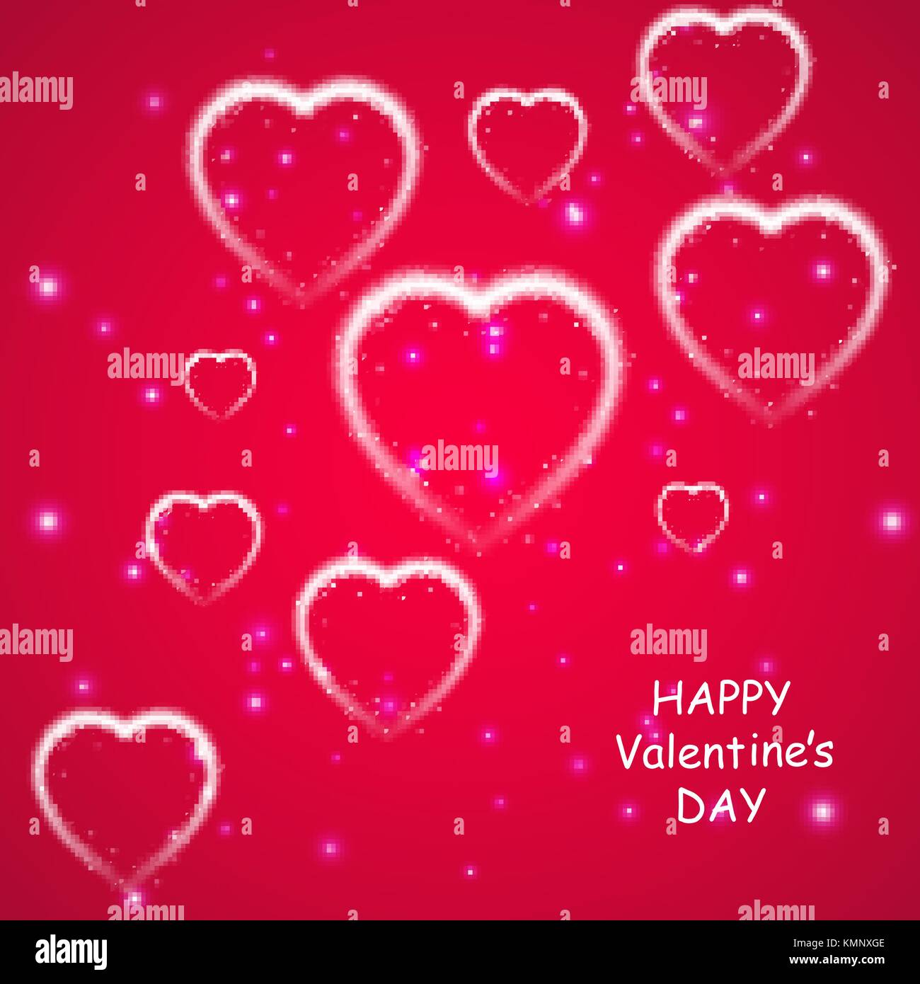 Happy valentines day greeting card i love you 14 february happy valentines day greeting card i love you 14 february holiday background with falling hearts with arrow light stars on pink background kristyandbryce Image collections