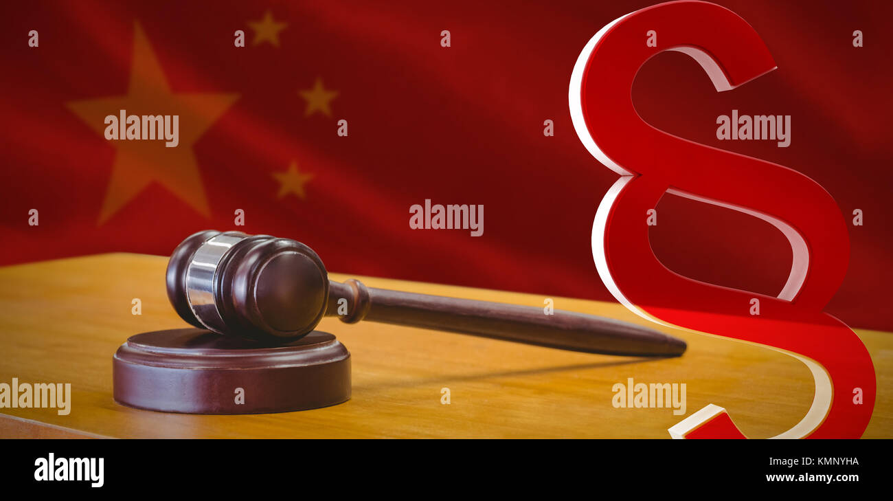 Chinese legal code stock photos chinese legal code stock images vector icon of section symbol against close up of chinese flag stock image biocorpaavc Images