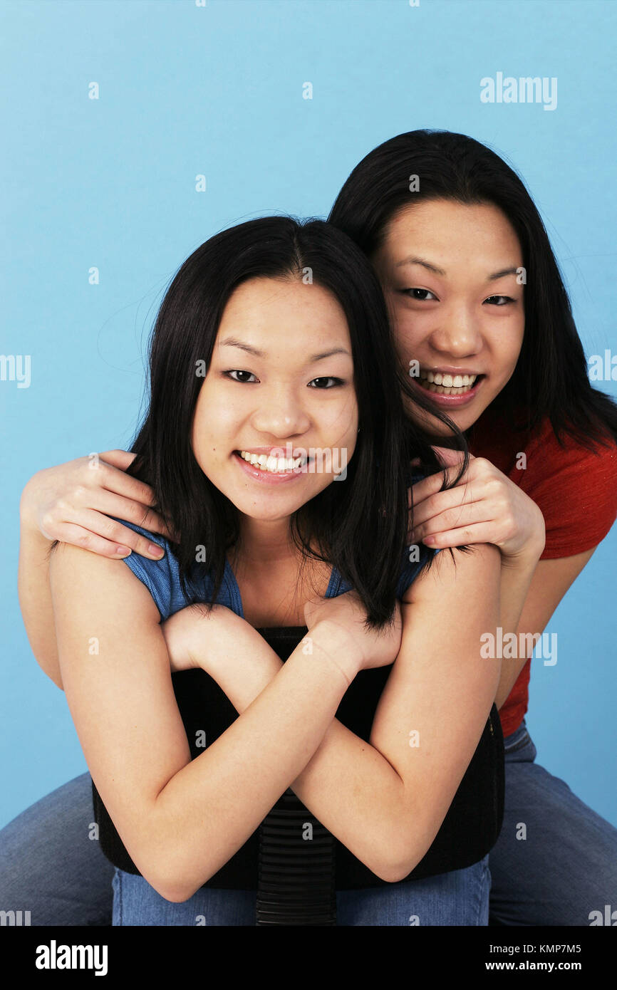 Female asian twins very