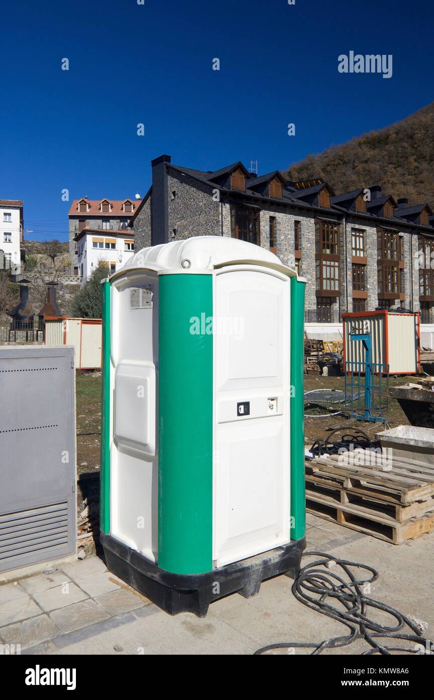 Construction Site Toilets : Portable bathroom stock photos