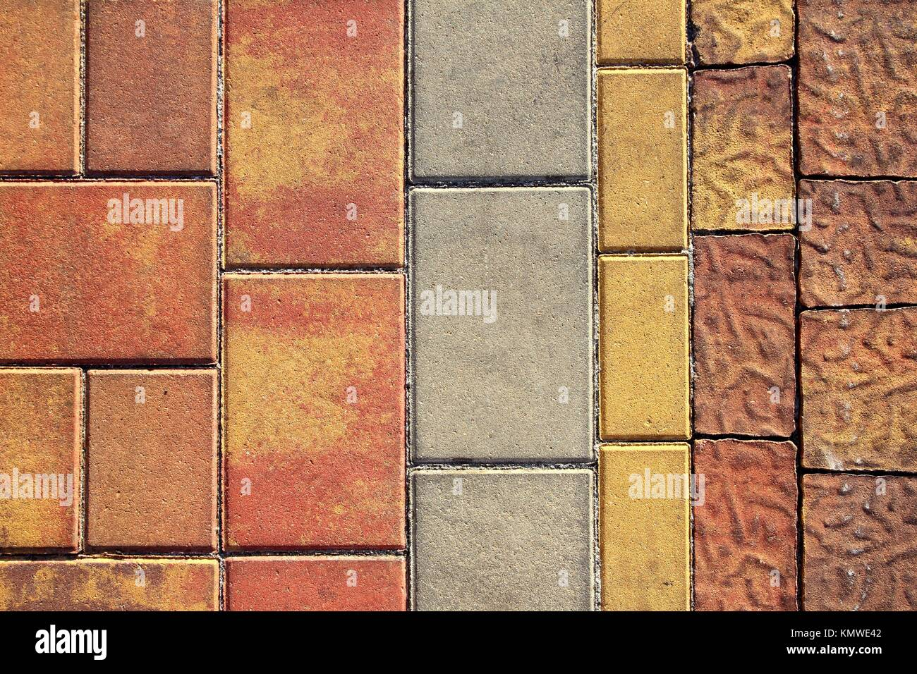 Pavement Flooring Outdoor Texture Colorful Cement Based