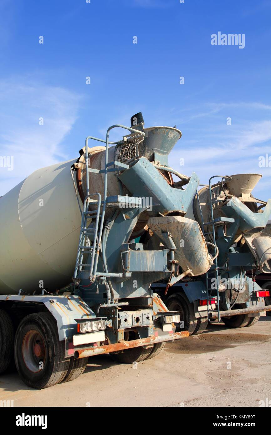 Cement Truck Back Stock Photos Amp Cement Truck Back Stock