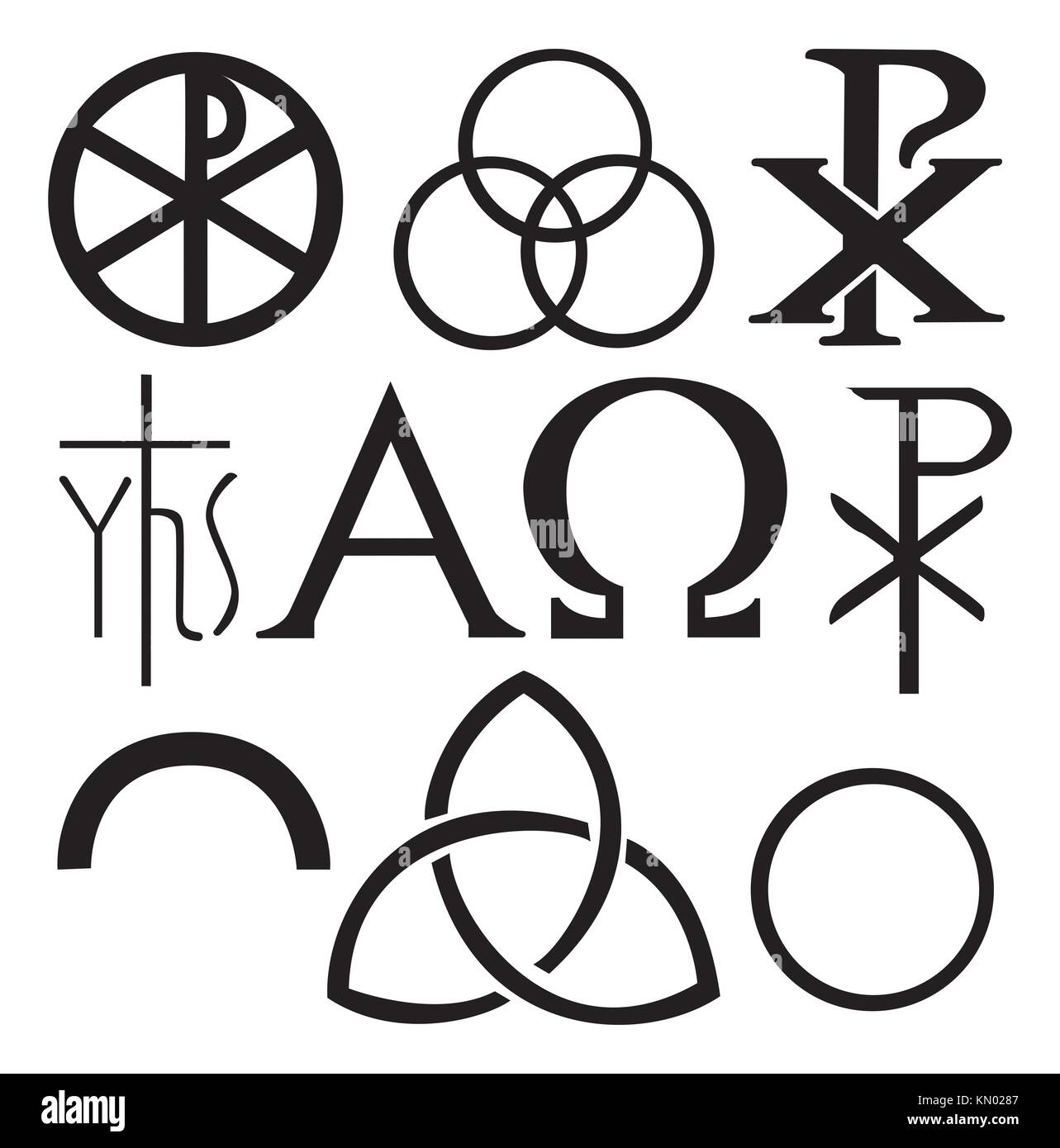Medieval religious symbols image collections symbol and sign ideas alpha omega symbols symbol stock photos alpha omega symbols set of christian symbols stock image buycottarizona biocorpaavc