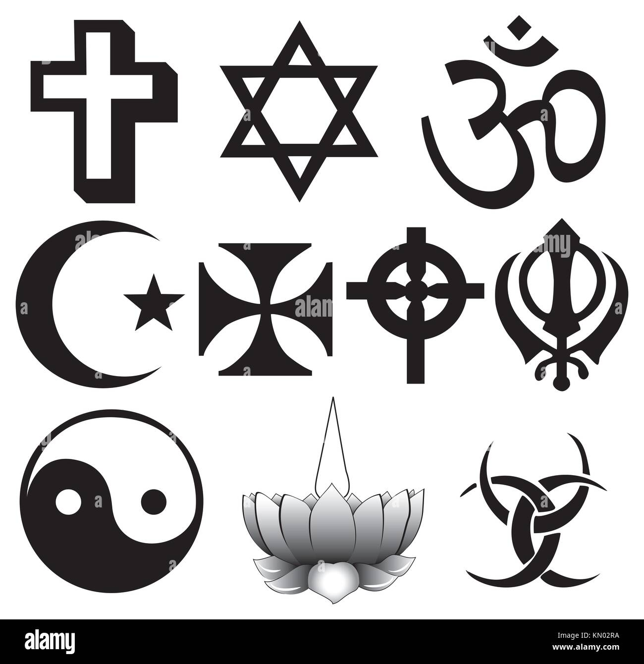 Religion symbols cut out stock images pictures alamy different religions symbols stock image buycottarizona