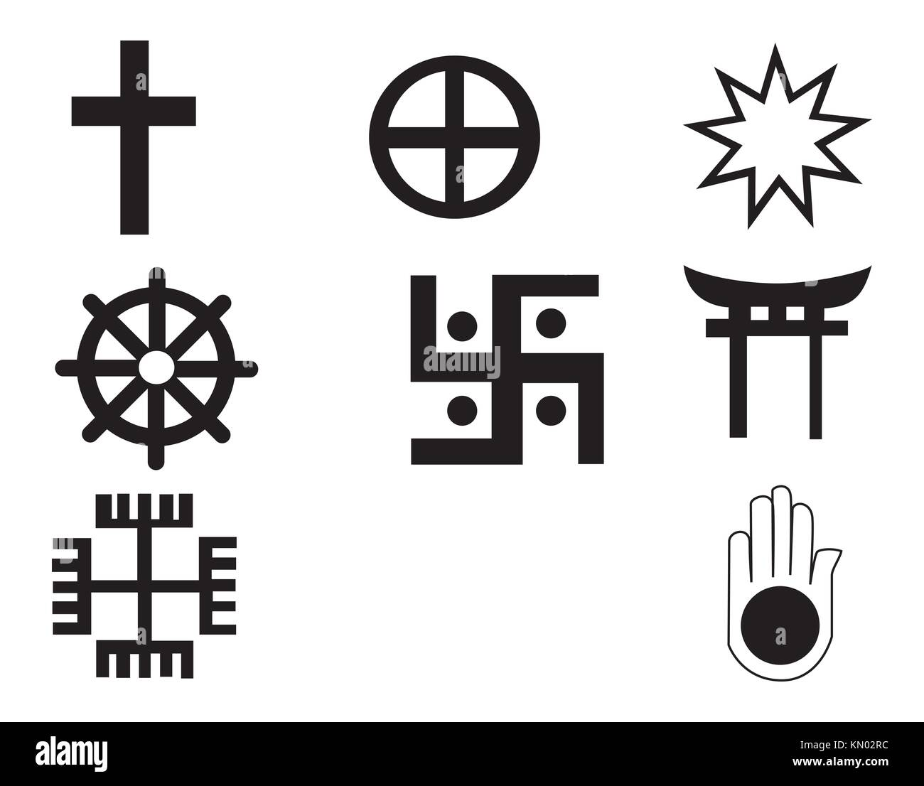 Religion symbols cut out stock images pictures alamy different religions symbols stock image biocorpaavc