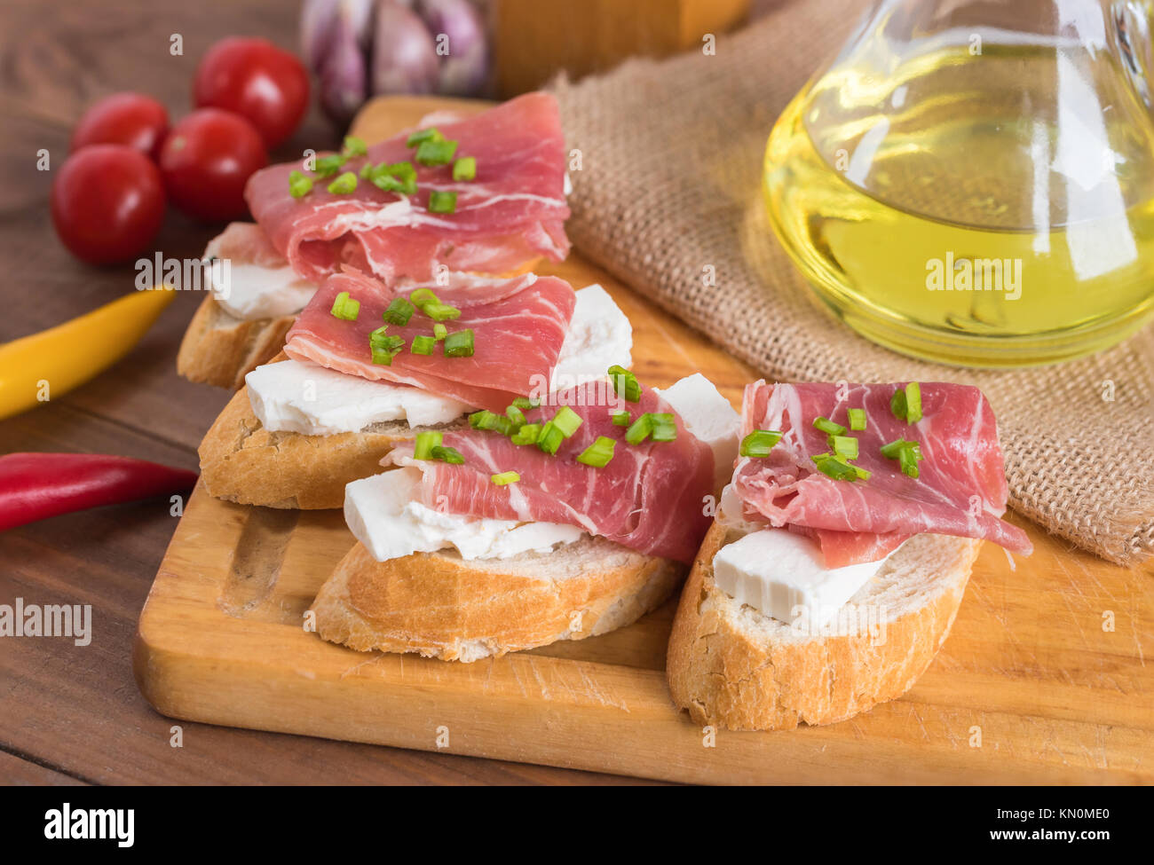 Bruschetta Italian Food Antipasti Stock Photos ...