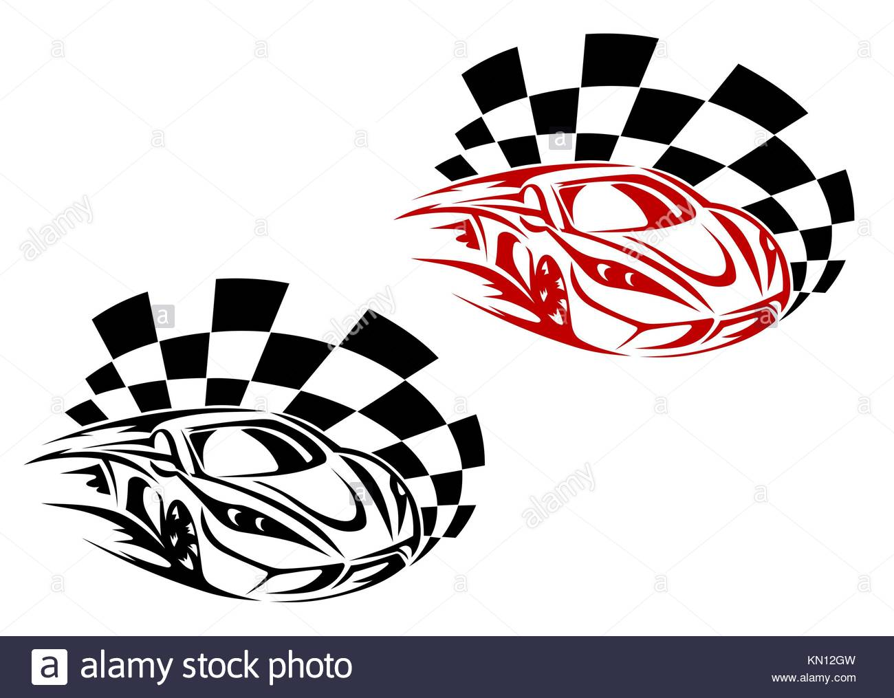 Racing cars and symbols for sports or tattoo design stock photo racing cars and symbols for sports or tattoo design biocorpaavc