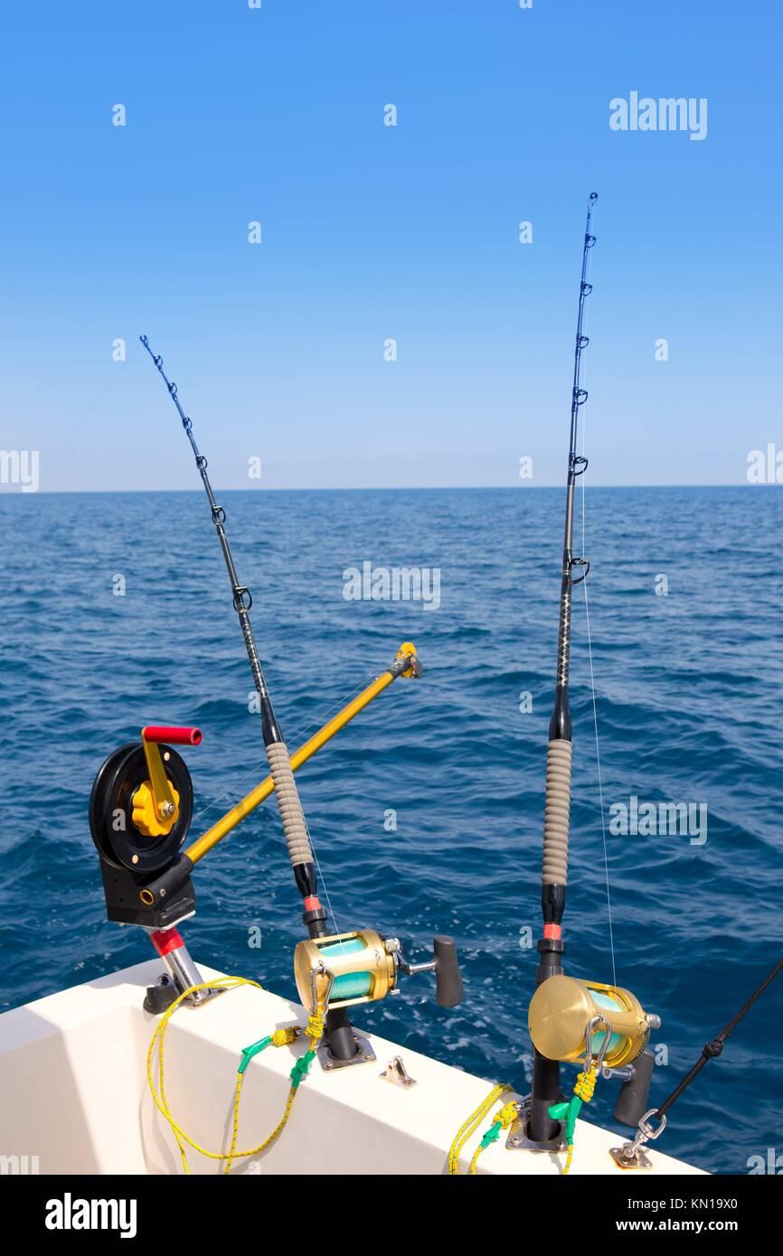 Downrigger fishing rod stock photos downrigger fishing for Boat fishing rods