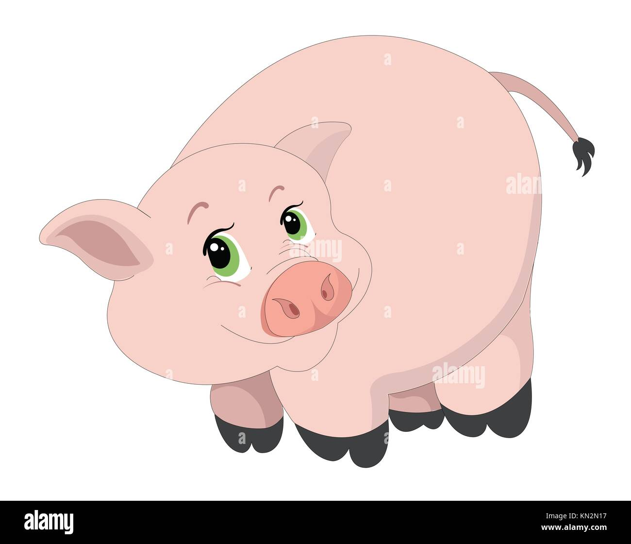 cute pink pig vector illustration stock photo 167861491 alamy