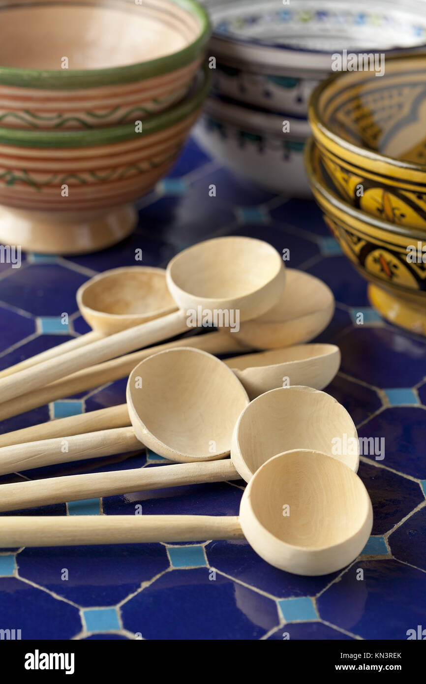 Moroccan bowls stock photos moroccan bowls stock images alamy moroccan wooden spoons and soup bowls stock image reviewsmspy